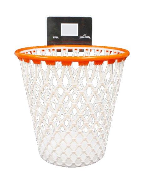 画像1: Waste Basket Wht/Org BB200 Spalding スポルディング ウェイストバスケット アクセサリー Other (1)