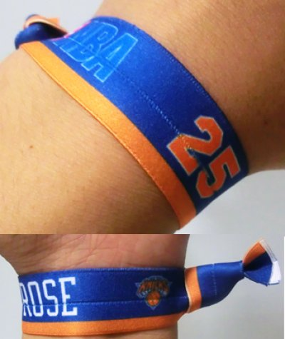 画像1: Player rubber Wristband ROSE NBA31142 NBA  リストバンド