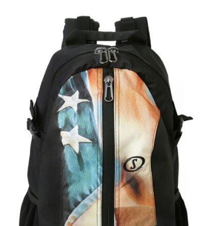 画像1: ケイジャー US フラッグ Blk/Usa 40-007FL BCKPK Spalding スポルディング バッグ