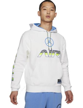 画像1: Jordan Sport DNA HBR Hoodie Wht/U.Blu V2984-100 Jordan ジョーダン パーカー アウトウエア ウエア 秋冬物  【海外取寄】【MEN'S】 (1)