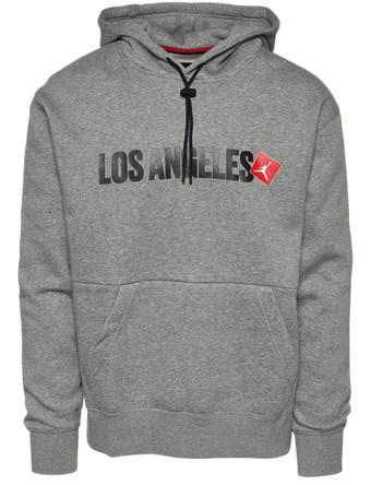 画像1: Jordan Los Angeles Pullover Hoodie Gry/Blk/Red D8066-091 Jordan ジョーダン パーカー アウトウエア ウエア 秋冬物  【海外取寄】【MEN'S】 (1)