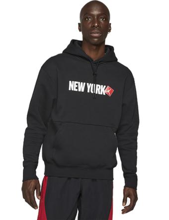 画像1: Jordan New York City Pullover Hoodie Blk/Wht/Red D8068-010 Jordan ジョーダン パーカー アウトウエア ウエア 秋冬物  【海外取寄】【MEN'S】 (1)