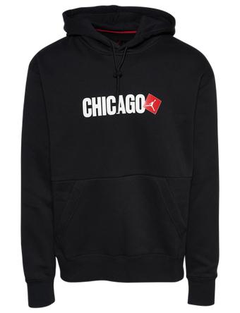 画像1: Jordan Chicago Pullover Hoodie Blk/Wht/Red D8063-010 Jordan ジョーダン パーカー アウトウエア ウエア 秋冬物  【海外取寄】【MEN'S】 (1)