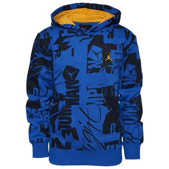 画像1: Jordan Essentials AOP Pullover Hoodie Blk/Blu G712G431 Jordan ジョーダン パーカー アウトウエア ウエア 秋冬物  【海外取寄】【MEN'S】 (1)